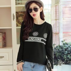 2015 Hitz women's fashion loose long-sleeved T-shirt printing women dress Popular women sexy autumn Hot New Promotions