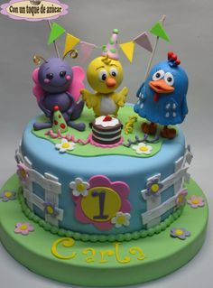 Tarta la gallina pintadita - Cake by Con un toque de azúcar - Georgi