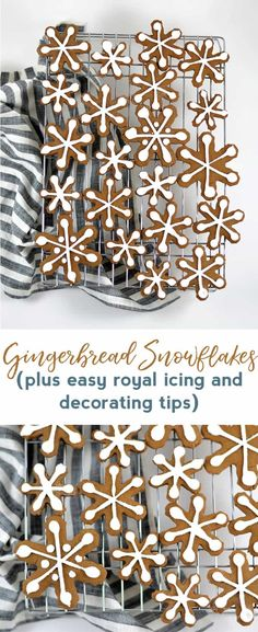 gingerbread snowflak