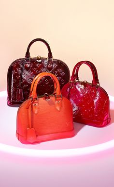 Make the Alma bag part of your Louis Vuitton Holiday gift list. Classic Epi leather satchels in a wide color and  size selection to match  any personality.