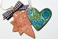 Pressed Clay Pendant Tutorial - Splitcoaststampers