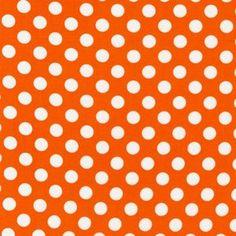 Robert Kaufman House Designer - Spot On - Medium Spots in Orange