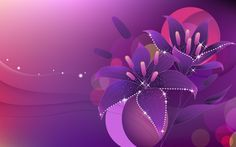 Vector Violet Flower HD Wallpaper