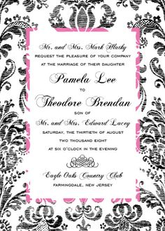 Wedding Invitations - Vintage Damask