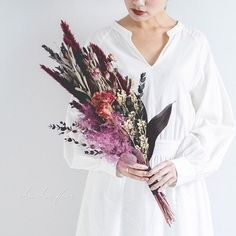 Bohemian Wedding Hair, Flower Bouquet Wedding, Dried Flowers, Flower Arrangements, Wedding Hairstyles, Bridal, Wedding Dresses, Nature, Color
