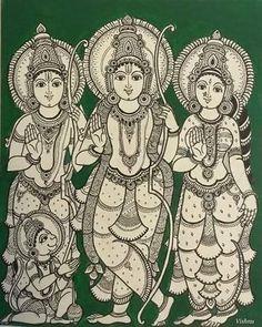 Indian Traditional Paintings, Indian Art Paintings, Kalamkari Painting, Madhubani Painting, Shiva, Kerala Mural Painting, Mysore Painting, Indian Folk Art, Ancient Indian Art