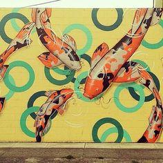 Fontana Studios - Arrows & Koi Fish - SE Portland Mural Art Bicycling Meetup (Portland, OR) - Meetup Murals Street Art, Grafitti Street, Mural Wall Art, Mural Painting, Festival D'art, Art Public, Arts And Entertainment, Street Artists, Art Pieces