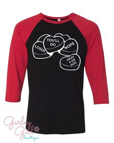 Funny Valentine Graphic Tee by GurleyGirlBoutique on Etsy