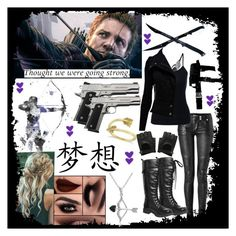 """Hawkeye ❤"" by takemetothecookies ❤ liked on Polyvore featuring WALL, Balmain, Volatile, Allurez and Amanda Rose Collection"