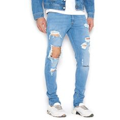 DIESEL 'Deepzip' Jeans ($195) ❤ liked on Polyvore featuring men's fashion, men's clothing, men's jeans, mens destroyed jeans, mens ripped jeans, mens torn jeans, diesel mens jeans and mens distressed jeans