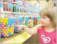 Chutters Candy Shop in New Hampshire Established in Littleton, in1995, the Main Street candy shop boasts the Guinness world record for longest candy counter, reaching 112 feet from the front of the store to the back, and packed with between 500 and 600 jars of candy