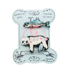 Embroidered Bear & Fish Brooches by Tamao World