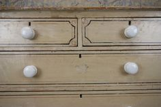 English Antique Original Painted Pine Chest of Drawers