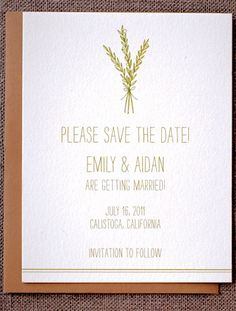 Wheat save the date