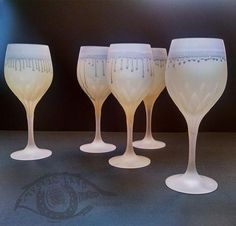 Thanksgiving Drinking Glassware, Stained Drinking Glass from MysticLand Fancy Goblets _ Lime Light Love _ Own&Adore