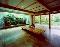 Takashi Amano's in home private aquarium.