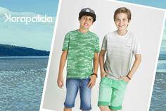 O verde traz frescor, alegria e um toque lúdico ao look infantil. Para os garotos, aposte!  #lookfashion #bomdia #karapalida #verão2016