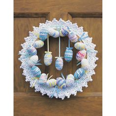 Free Pattern Lily Sugar 'N Cream Happy Easter Wreath | Hobbycraft