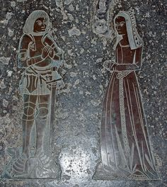 High Laver, Essex. Edward and Mirabel Sulyard, late 15c.
