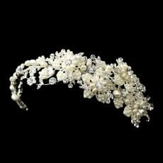 Freshwater Pearl & Rhinestone Side Headpiece