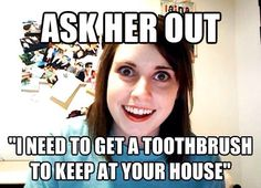 I can't believe I forgot all about the Overly Attached Girlfriend meme! Or how come call it the crazy girlfriend meme. This is a classic meme that will live Girlfriend Meme, Crazy Girlfriend, Obsessed Girlfriend, Clingy Girlfriend, Sticker Transparent, Overly Attached Girlfriend, Call Me Maybe, The Girlfriends, Funny Jokes