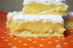 Receta de Marian: Lemon squares (o cuadraditos de limón)