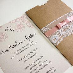Rústico chique de encher os olhos e o coração de amor  - ✨ Em breve na loja! ✨ - #casamento #noiva #wedding #invitation #lojaembrevecasadinhos #rustic #rústicochique #rosaantigo
