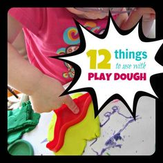 Kids Creative Chaos: Sensory Saturday ~ 12 Fun Things to Use with Play Dough