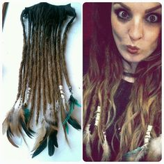 20 Clip In Synthetic Ombre Dreadlocks by CosmAddictCreations