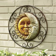 Outside Under The Porch Moon Decor Sun Wall Face