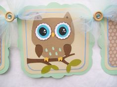 woodland owl baby shower banner its a boy by NancysBannerBoutique, $30.00