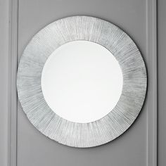 Silver Leaf Groove Round Circle Mirror Shades of Light $299.00 31.5 inches in diameter