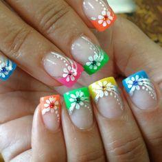 colorful summer! Valentines Design, Stylish Nails, Beauty Trends, Summer Nails, Nail Designs, Nail Art, Colorful, Kids, Food