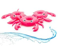 Inflatable Drink Holder for Pool Float Floating Set of 3 - Crab Cup Floaties for sale online Pool Drinks, Bachelorette Party Supplies, Drink Holder, Cup Holders, Blue Umbrella, Beach Accessories, Pool Towels, Beach Party, Flamingo