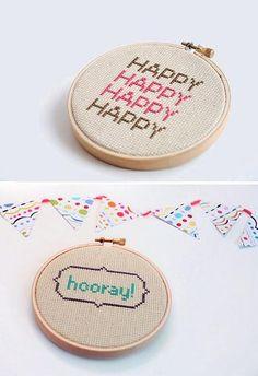 cross stitch typography