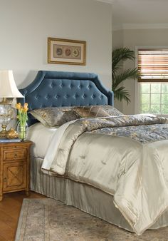 Shop for Fairfield Chair Company Queen Headboard, and other Bedroom Headboards at Furniture Galleries in Butler, PA - Pennsylvania. Small Furniture, Luxury Furniture, Bedroom Furniture, Blue Headboard, Queen Headboard, Bedroom Bed, Bedroom Decor, Bedroom Headboards, Dallas Furniture Stores