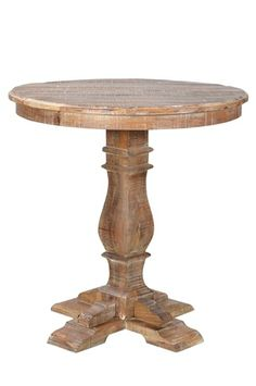 bar table in weathered wood in kitchen area