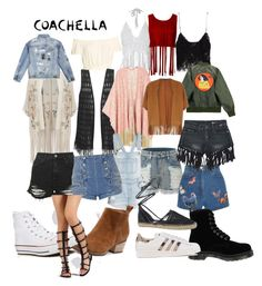 """Cochella"" by emmatraynor on Polyvore featuring Miss Selfridge, Zara, Melissa McCarthy Seven7, Chicnova Fashion, Dorothy Perkins, LE3NO, Topshop, Pierre Balmain, Valentino and Sans Souci"