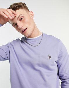 PS Paul Smith zebra logo crew neck sweatshirt in lilac