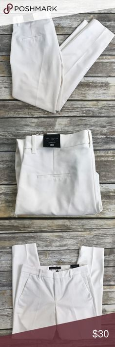 Zara : White Chino Fit Pants NWT Brand new and never worn Zara Women's Chino slacks. US Size 4. NWT No holds or trades. Bundle to save. Open to offers! Zara Pants Trousers