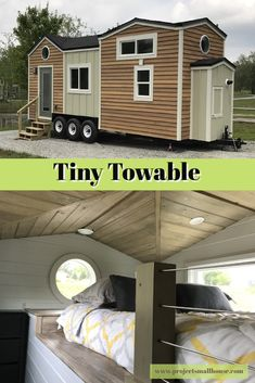 Front of the Tiny House - Tiny Towable in the Tiny House Neighborhood – Project Small House