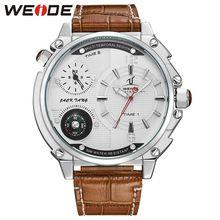 2016 WEIDE Luxury Brand Fashion Casual Watch Men Quartz Leather Clock Man Sports Watches Waterproof Men's Wristwatch(China (Mainland))