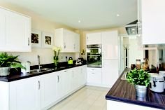 The kitchen in The Francis at Uplands Mill in Biddulph   Bovis Homes