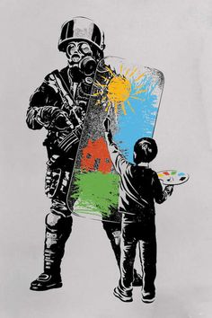 Street Art Banksy, Banksy Graffiti, Arte Banksy, Banksy Artwork, Bansky, Banksy Prints, Banksy Canvas, Protest Kunst, Protest Art