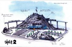 Check out these really cool skating concept images I´ve found online. Skate 3 wants to incorporate the different concepts brought out. Skate 3, Game Concept, Metro Station, Park, Cool Stuff, Games, Street, Skateboarding, Movie Posters