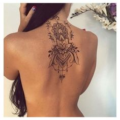 FEMININE TATTOOS BACK OF THE NECK ❤ liked on Polyvore featuring accessories, body art and tattoos
