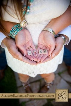 LOVE with wedding ring