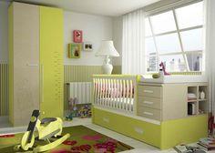 DORMITORIO BEBE 610-33 Baby Room Design, Nursery Design, Baby Bedroom, Kids Bedroom, Cot Mattress, Interactive Walls, Kid Beds, Baby Shower Favors, Kids Furniture