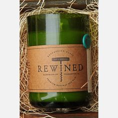 $20  Fab.com | Rewined Candle Riesling - a candle that smells like wine?! Absolutely!!! @Alana Cooper Ingram