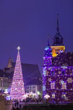 Christmas market, Warsaw, Poland